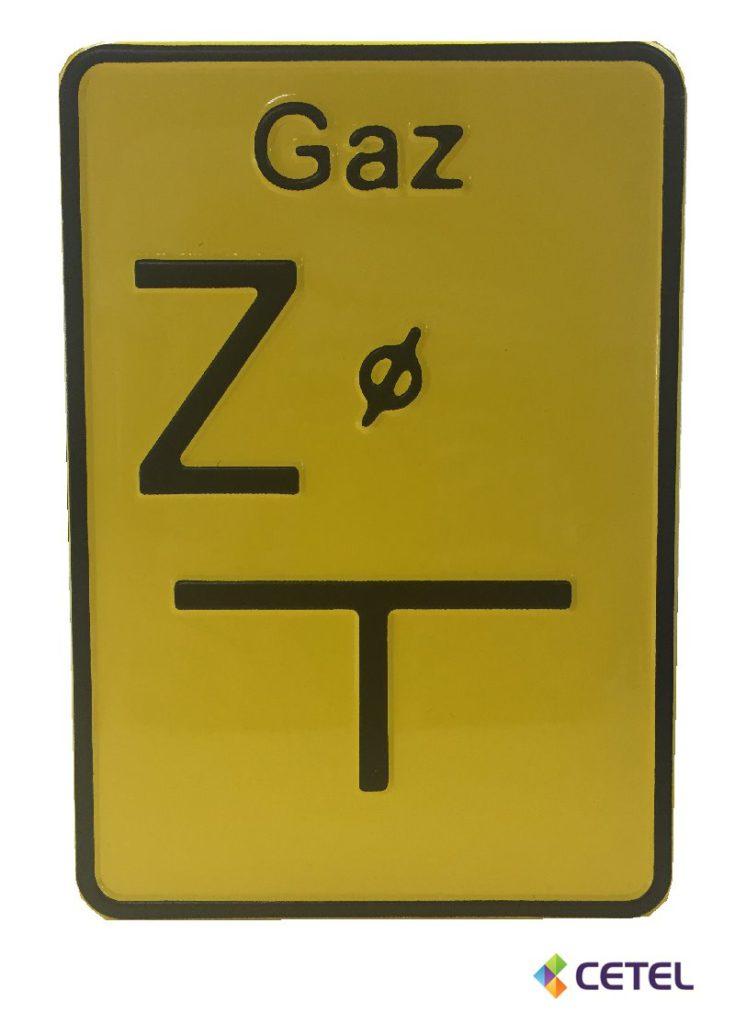 tabliczka oznaczeniowa do gazu